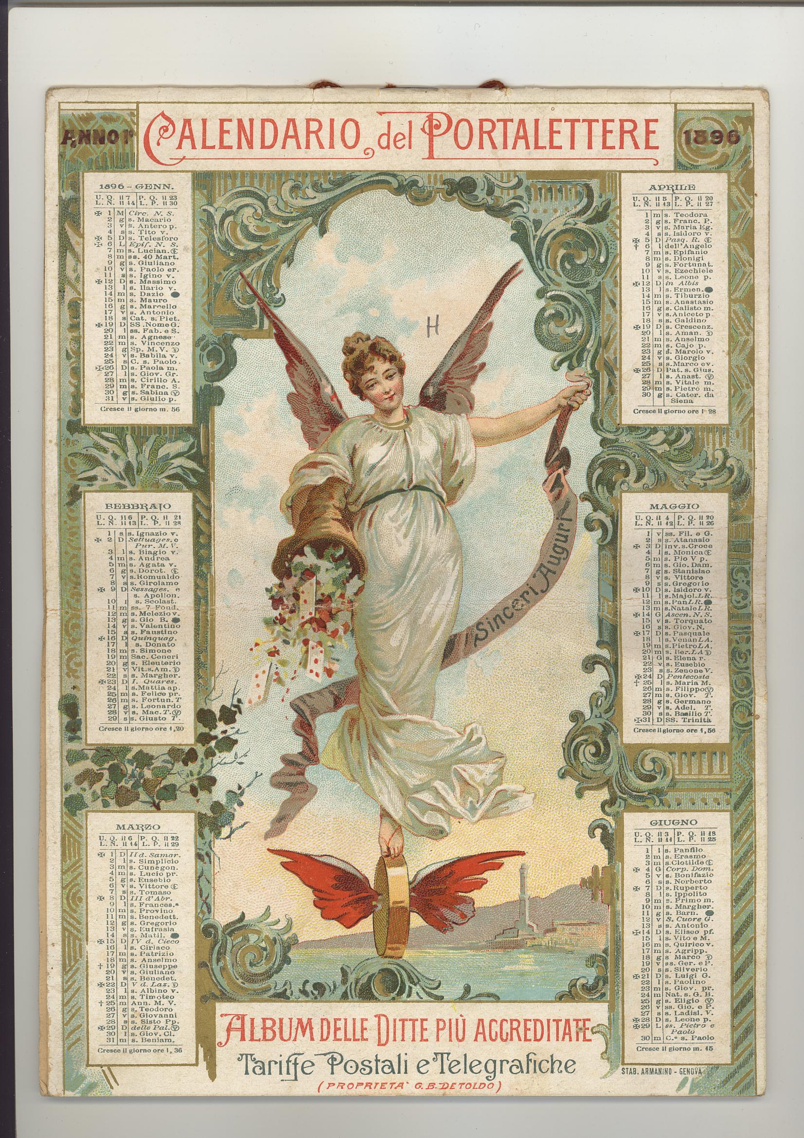 Calendario Antico.Calendario Del Portalettere Su Latramite Com